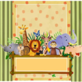 Jungle Theme Time Capsule, Keepsake, Trinket, Treasure, Memory, Baby Box