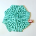 Set of 3 Eco Friendly Washcloths hand crochet in cotton