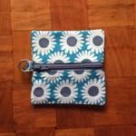 Blue Daisy Coin Purse
