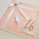 Elegant Soft Pink Birthday, Milestone Birthday, Happy Birthday,Personalised Card