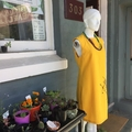 Yellow Unicorn Dress - size 10 - Small- Women's Girl's Linen Look