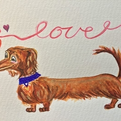 "Customise this ""Love"" card  with your dog!"