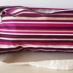 Dark Purple stripe tote/shopping/hand bag 4 pack
