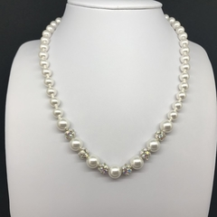 White Swarovski Necklace