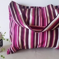 Dark Purple stripe tote/shopping/hand bag 4 pack