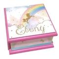 Unicorn Rainbow Keepsake Trinket Treasure Jewellery Memory Wooden Box