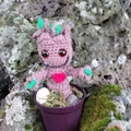 Baby Groot tree in a pot - your own crocheted Groot or unique Valentine gift!