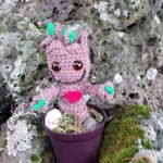 Baby Groot tree in a pot - your own crocheted Groot!