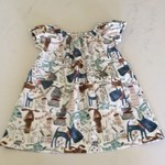 Peasant Dress - Puppy dogs