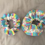 Adult Scrunchies- rainbow