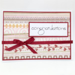 Congratulations Card - Ruby Red Ribbon