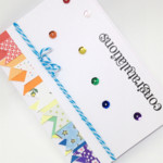 Congratulations Card - Banners and sequins