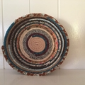 Material wrapped rope basket- small
