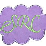 Embroidered Personalised name patch - Cloud - Purple