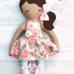 Anna - Handmade rag doll, 38cm, fabric doll, cloth doll.
