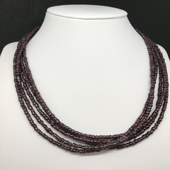 Red Garnet Gemstone multi-strand necklace