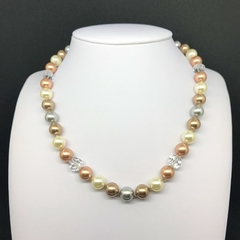 Blush Swarovski Pearl Necklace