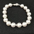 Swarovski white Pearl and Crystal Rondelle Bracelet