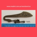 I LOVE YOU- antique bronze colour bookmark