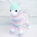 'Audrey' the Sock Alpaca - pastels - *READY TO POST*