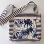 Tommy Bahama striped crossbody hipster bag.  For beach, markets, school.