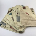 100% Organic Cotton Waffle Weave and decorative cotton print Unpaper Towel Set