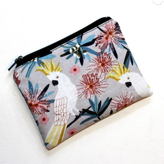 Small Coin Purse in Gorgeous Cockatoo Fabric