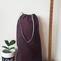 Maroon and silver tote/shopping bag 4 pack