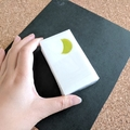 Puppy & Moon Soap Bar (White) - Kawaii soap art