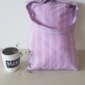 Purple striped bags bulk set 4 pack