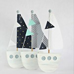 Three little sailing boats ....