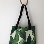 Tropical Tommy Bahama palm leaf outdoor fabric tote bag