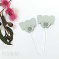 Koala Cupcake toppers. Birthday party. Baby shower, first birthday, Australiana.