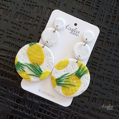 Pineapples Mega statement earrings
