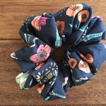 Adult Scrunchies-  Navy Boho