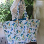 Shopping Bag, Beach Bag, Carry all - Mermaid Design with Detachable Coin Purse