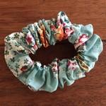 Adult Scrunchies-  Blue Floral