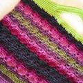 Crochet Handbag - Greens, Pinks & Purples