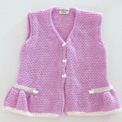 Pretty pink sleeveless cardigan size 2 - 3