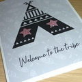 Welcome to the tribe - new baby card