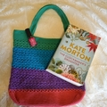 Rainbow Crochet Tote Bag - Pink, Purple, Blue & Green