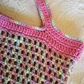 Crochet Market Bag - Pink & Pastels