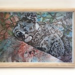 Art print from original oil/ink painting of koala.