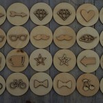 Wooden memory match game