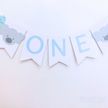 Koala Banner ONE. Happy Birthday, party bunting, Photo prop. Custom name banner.