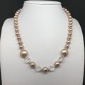 Swarovski Rose Gold Pearl Necklace