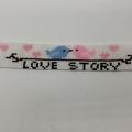 Love Story Bead Bracelet Love Birds Pink Blue Heart