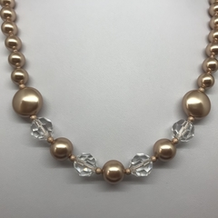 Swarovski Rose Gold Pearl Necklace