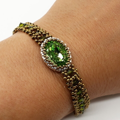 Green Swarovski Crystal 