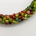 Kumihimo Bead  Bracelet Yellow Green Brown Silver